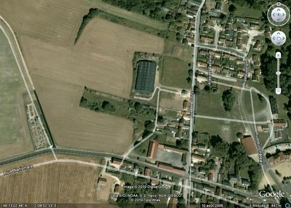 Maison esches for Photo vue du ciel de ma maison